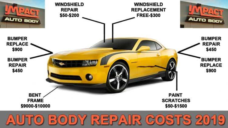 Auto Body Repair Costs 2019 Guide Impact Auto Body