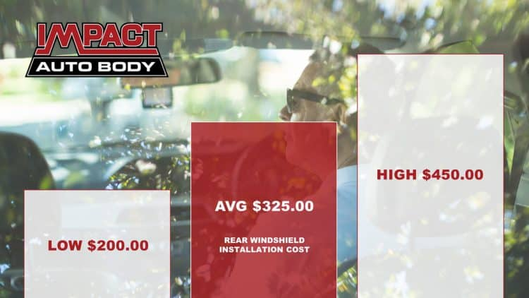 How Much Does Rear Windshield Replacement Cost?